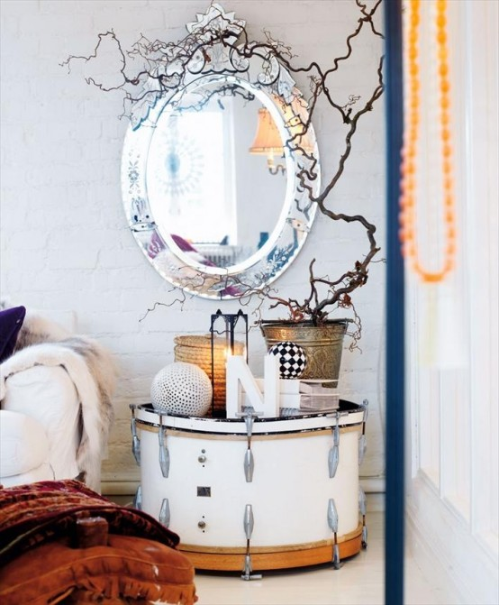 55 Cool Non-Conventional Bedside Tables - DigsDi