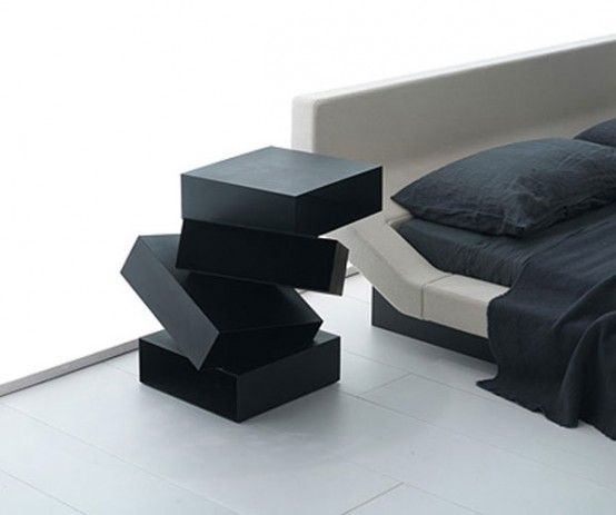 55 Cool Non-Conventional Bedside Tables | DigsDigs | Bedside table .