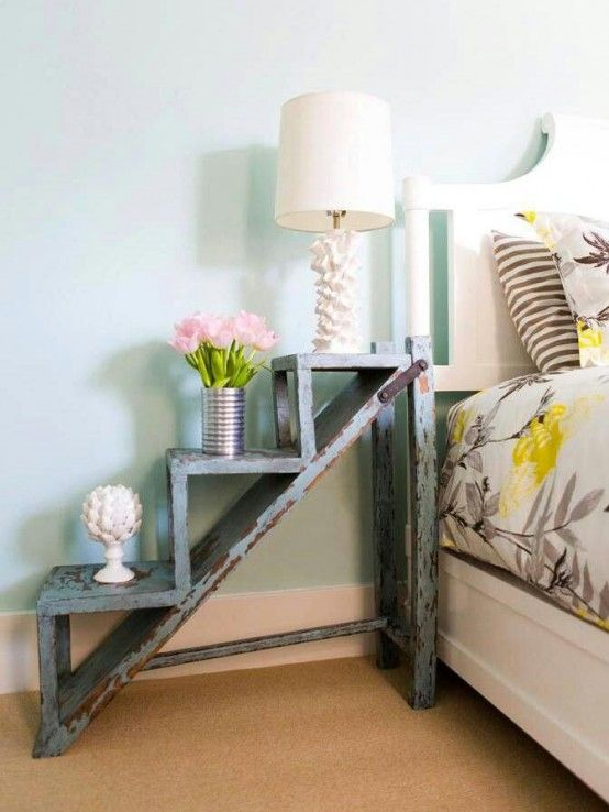 55 Cool Non-Conventional Bedside Tables | Home decor, Decor, Ho
