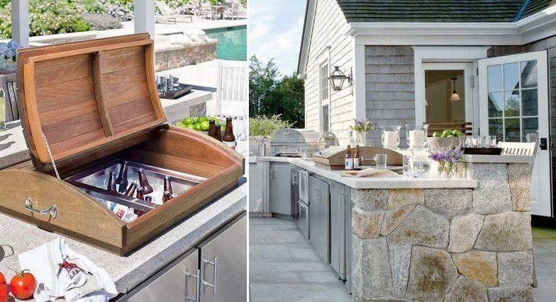 outdoor kitchen beer cooler | Outdoor kitchen design, Outdoor .