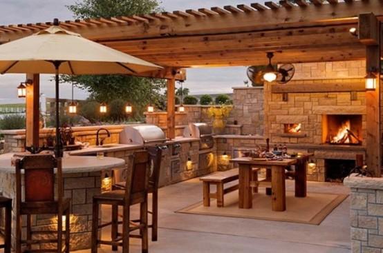 95 Cool Outdoor Kitchen Designs - DigsDi