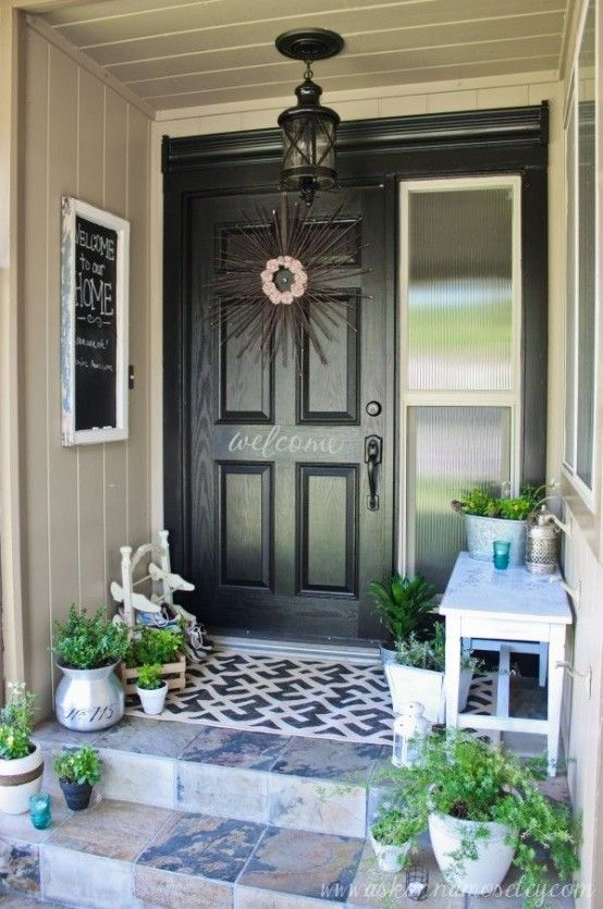 30 Cool Small Front Porch Design Ideas | Front porch decorating .