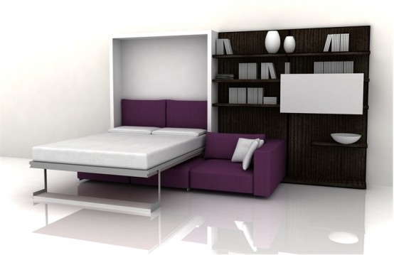 Functional Furniture With Folding Bed For Small Living Room .