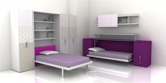 Cool Teen Room Furniture For Small Bedroom by Clei - DigsDi