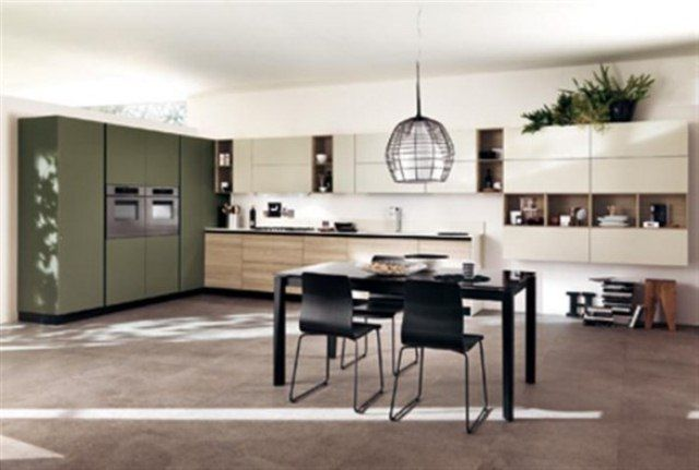 Example of transition between walls photos of scavolini kitchen .