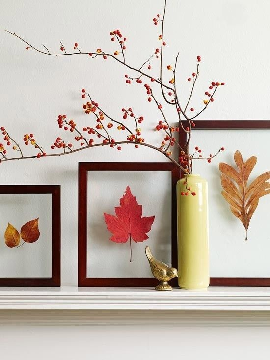 30 Cool Ways To Use Autumn Leaves For Fall Home Décor | Trabalhos .