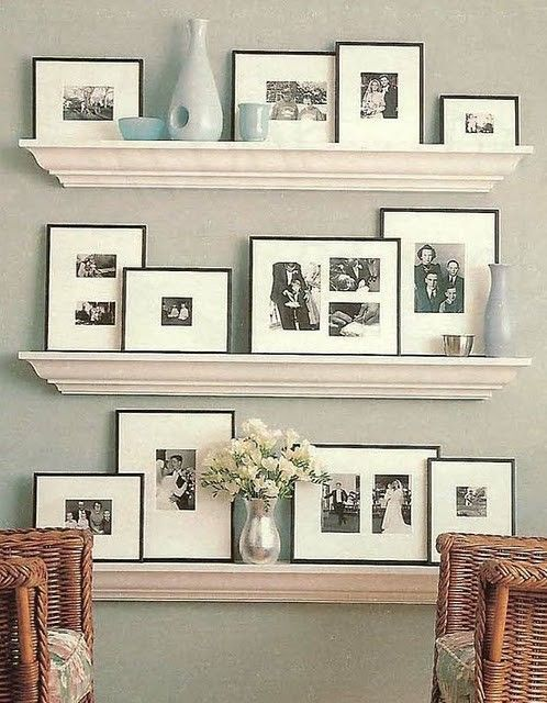 34 Cool Ways To Use Picture Ledges For Home Décor   DigsDigs   out .