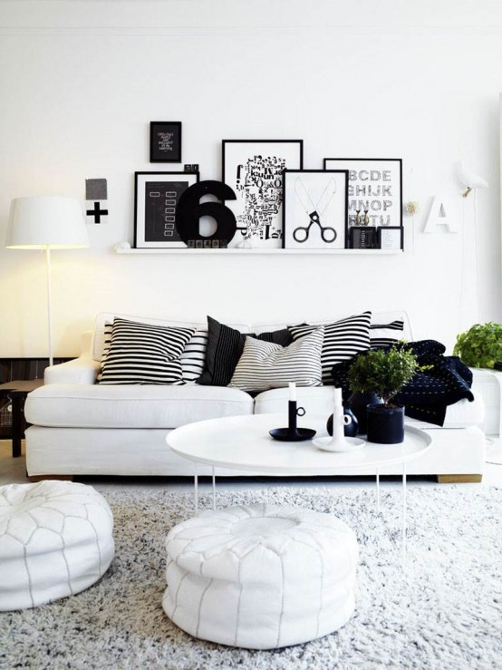 34 Cool Ways To Use Picture Ledges For Home Décor - DigsDi