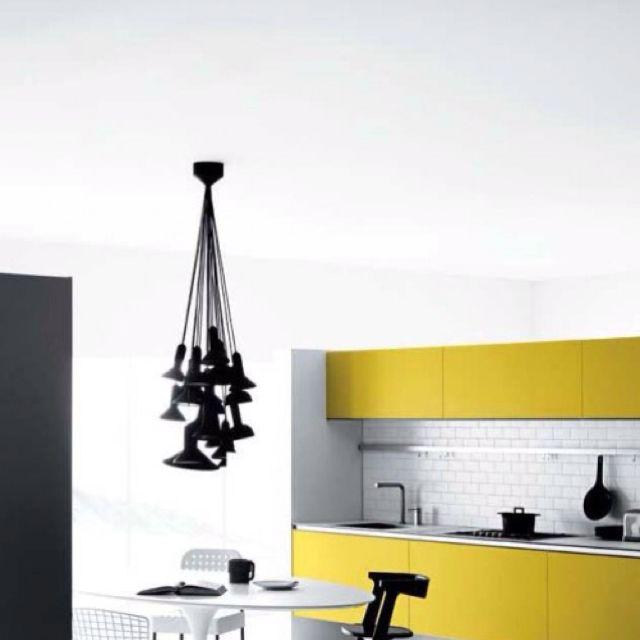 Yellow kitchen   Yellow kitchen designs, Interior design kitchen .