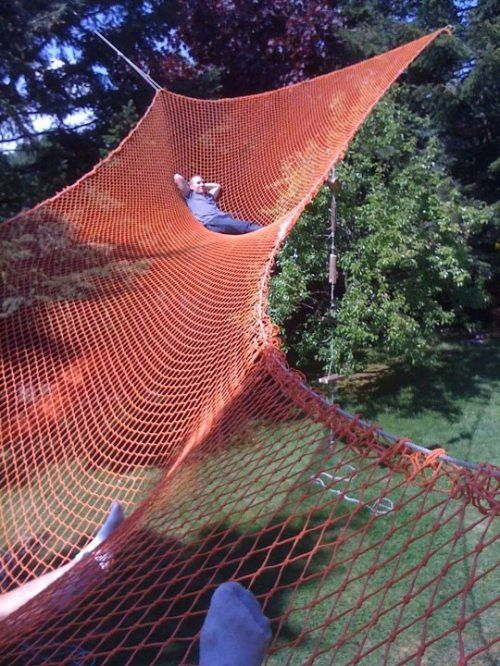 I've never wanted anything more in my life. | Backyard hammock .