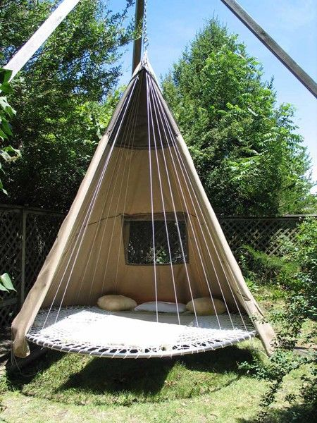 trampoline teepee haha awesome! Would be cool for kids one day .