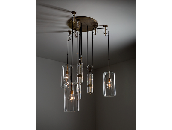 3rings | Counterweight Chandelier by Alison Berger for Holly Hunt .