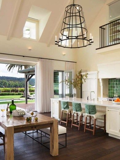Fresh and modern wine country home with indoor-outdoor living .