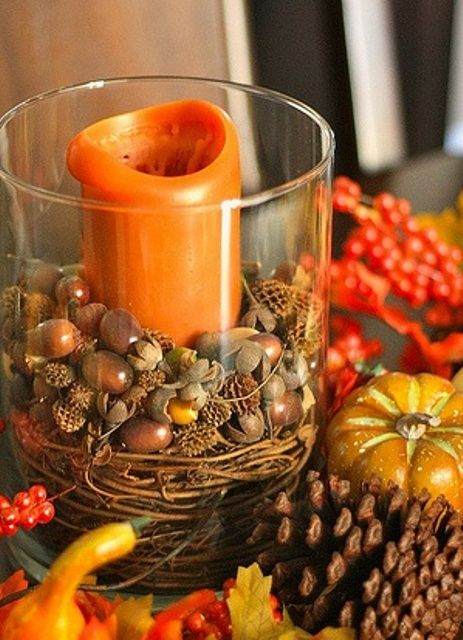 45 Cozy Acorn Décor Ideas For Your Home | DigsDigs | Fall lanterns .