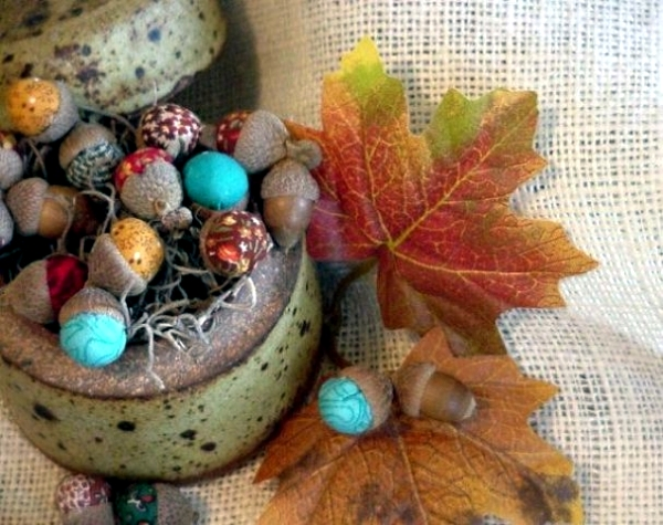 Autumn decoration crafts with acorns – 36 ideas for a cozy home .