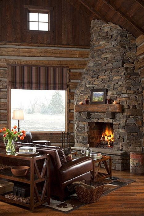Cozy Cabin Retreat in the Mountains | Cabin fireplace, Home .