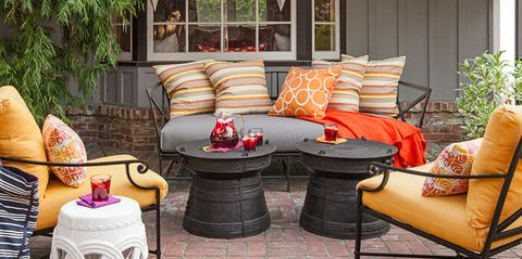 17 Best Outdoor Fall Decor Ideas - Ways to Decorate Outside for Fa