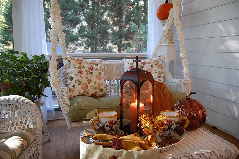 Cozy Fall Front Porch home swing autumn fall decorate cozy front .