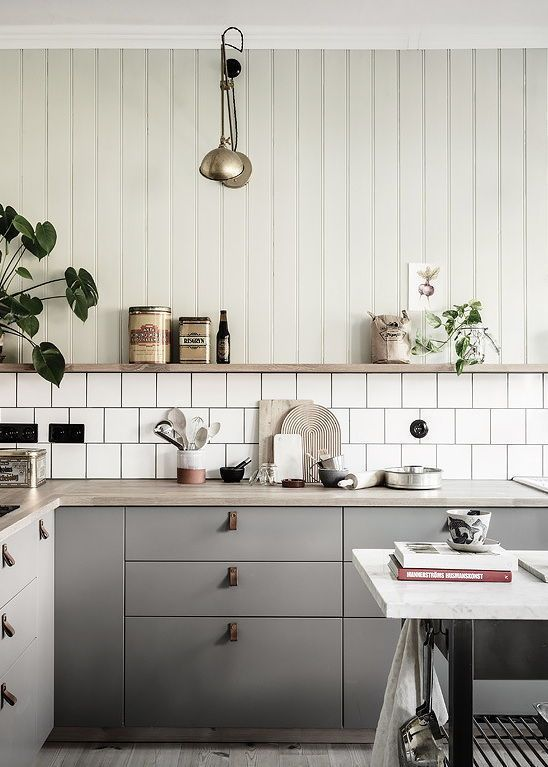 Cozy kitchen with a touch of green - COCO LAPINE DESIGN, #coco .
