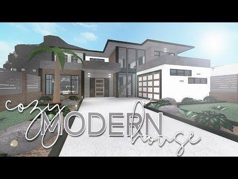 ROBLOX | Bloxburg: Cozy Modern House 118k - YouTube | Modern .