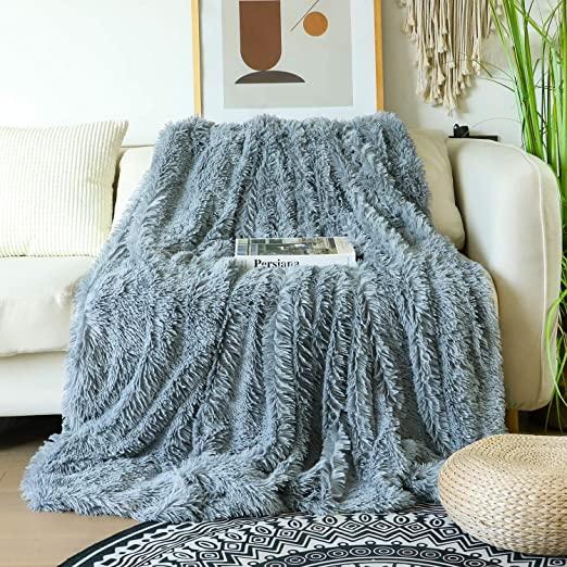 Amazon.com: Decorative Extra Soft Faux Fur Blanket Queen Size 78 .