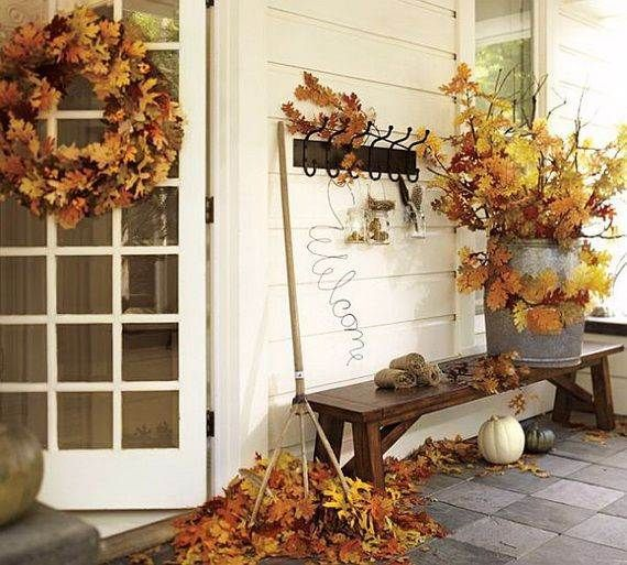75 Cute And Cozy Rustic Fall And Halloween Décor Ideas | Front .