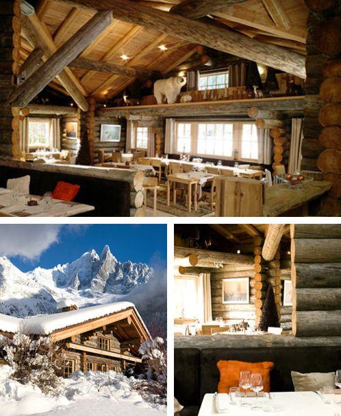 Dinner at La Cabane des Praz, Chamonix Mont-Blanc, France. #winter .