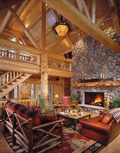 cozy wooden homes | Log homes, Log cabin homes, Cabin hom