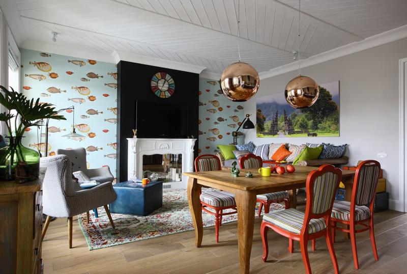 Сумасшедше-ироничная квартира в эклектичном стиле | Pro Handma