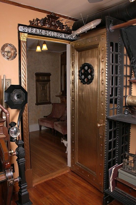 Design Styles, Decorating Ideas | 28 Crazy Steampunk Home Office .