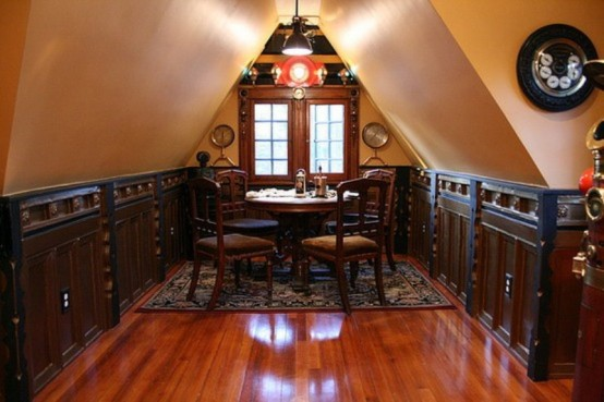 Home Interior Project: 12 Crazy Steampunk Home Office Desig