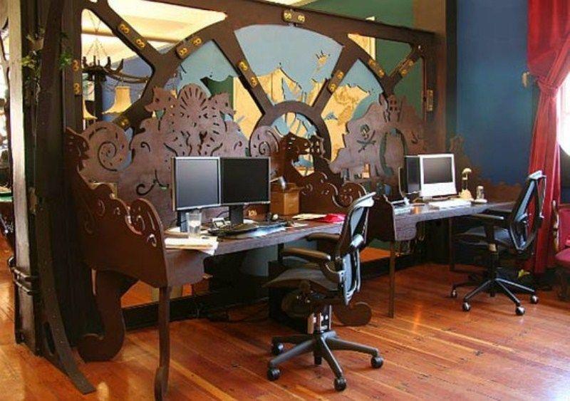 28 Crazy Steampunk Home Office Designs | Steampunk interior .