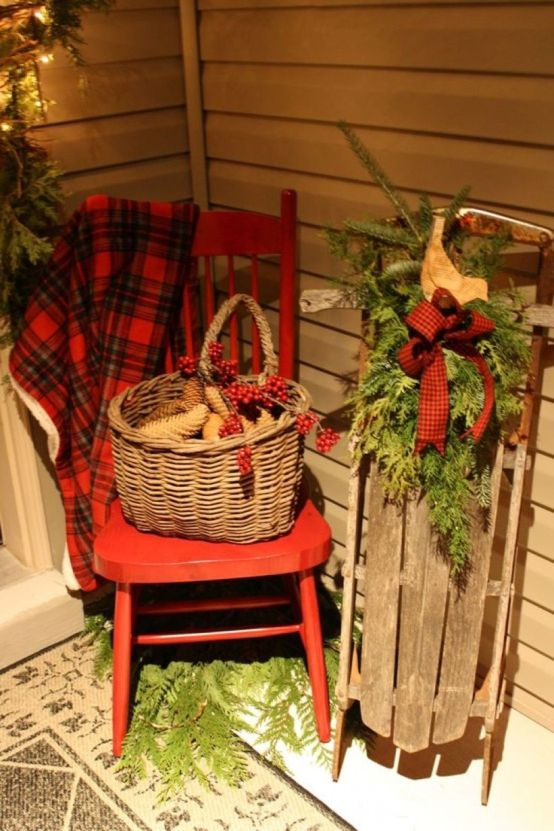 20 Sleigh Decoration Ideas during Winter this Year ~ Matchness.c