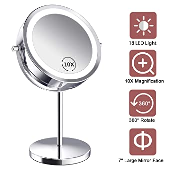 Amazon.com : Benbilry Lighted Makeup Mirror - LED Double Sided 1x .
