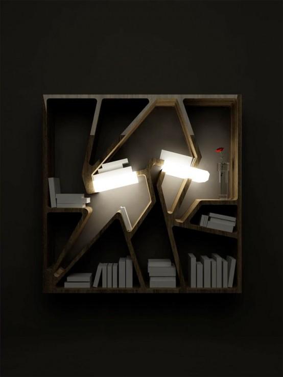 36 Creative Bookshelves And Bookcases Designs - DigsDi