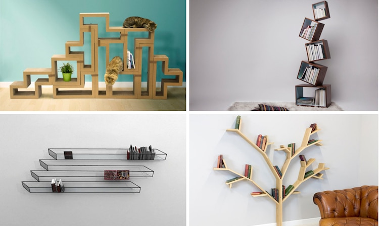 Creative Bookshelves and Unique Bookcases That Put a Spin on Stora