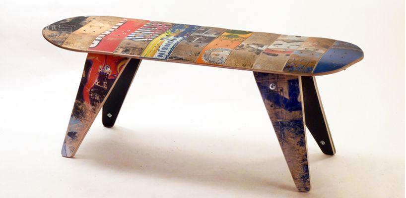 skateboard benches   Skateboard furniture, Unique furniture .
