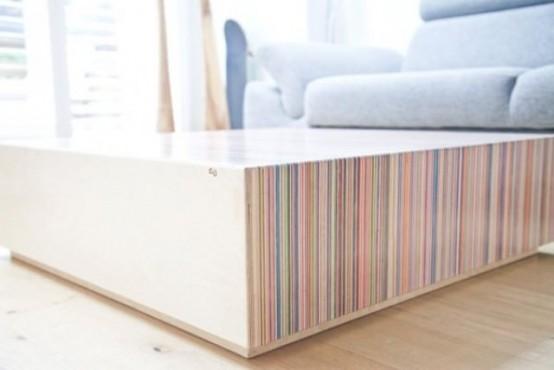 Creative Coffee Table From Upcycled Skateboard Decks - DigsDi