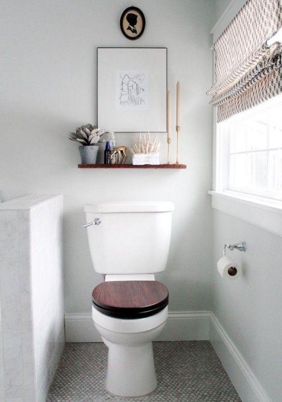 Creative Décor: 39 Bathrooms With Half Walls | Bathroom shelves .