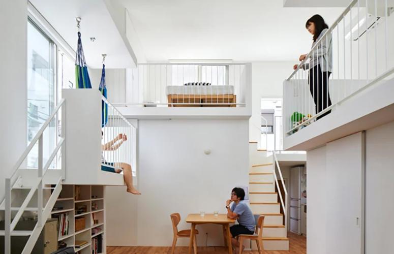 Creative Minimalist House With Inner Balconies - DigsDi