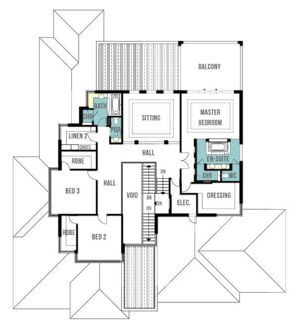 Woodland Split Level House Plans - First Floor Plan   Split level .