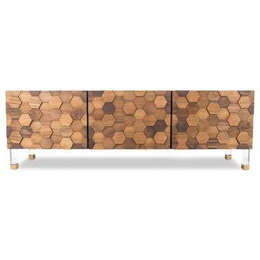 Kubist 3 Door Credenza | Bleached wood, Design, Wooden doo
