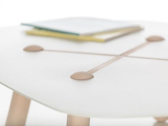 Curious Button Table By Marcello Santin And Joeri Reynaert - DigsDi