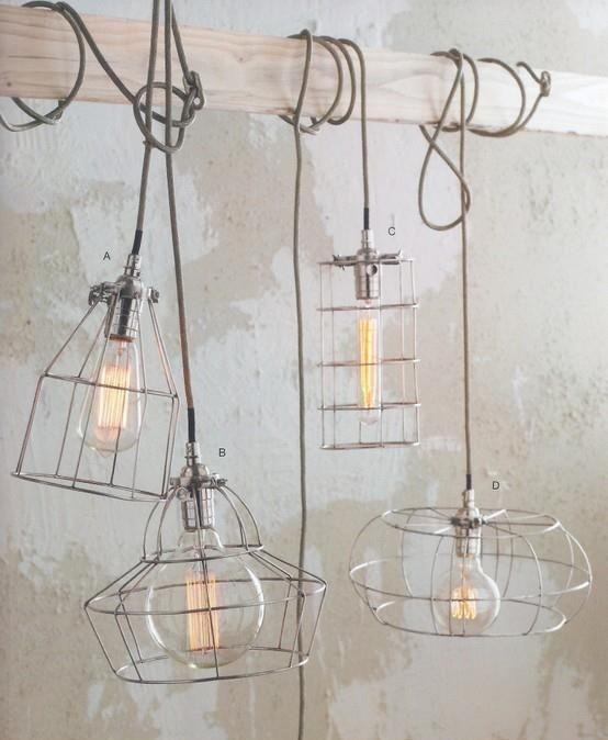Current Lighting Trend: 25 Modern Cage Lamps   Caged lamp, Vintage .