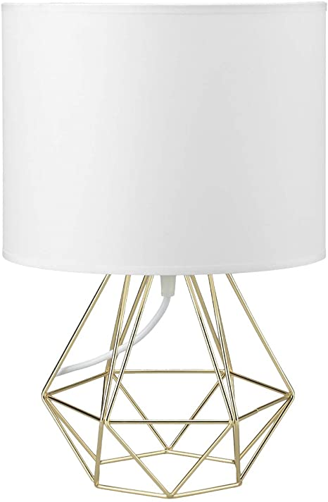 FRIDEKO Modern Geometric Table Lamps - Boho Minimalist Bedside .
