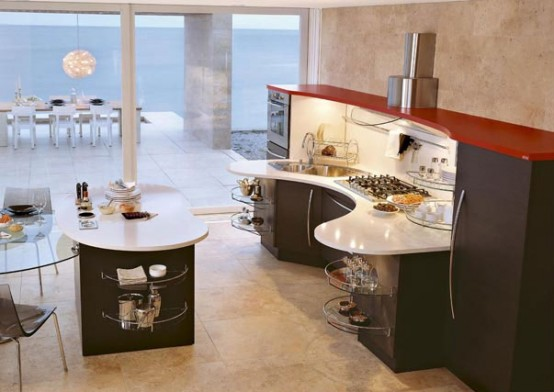 curved kitchen island Archives - DigsDi