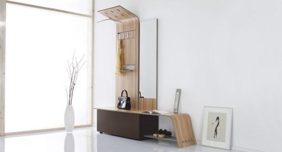 Curved Modular Hallway Furniture Set - Elli by Jannis Ellenberger .