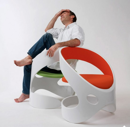 Curvy Chairs And Stools Of Different Materials By Martz Edition .