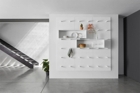 Modern Wall Storage System Uses Endlessly Moveable Boxes | Designs .