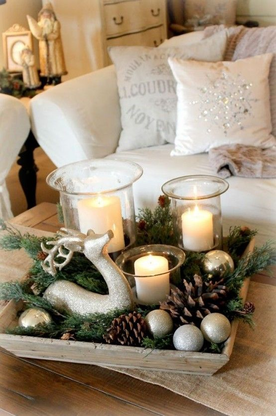 30 Cute Deer Décor Ideas For Cozy Christmas Spaces   White .